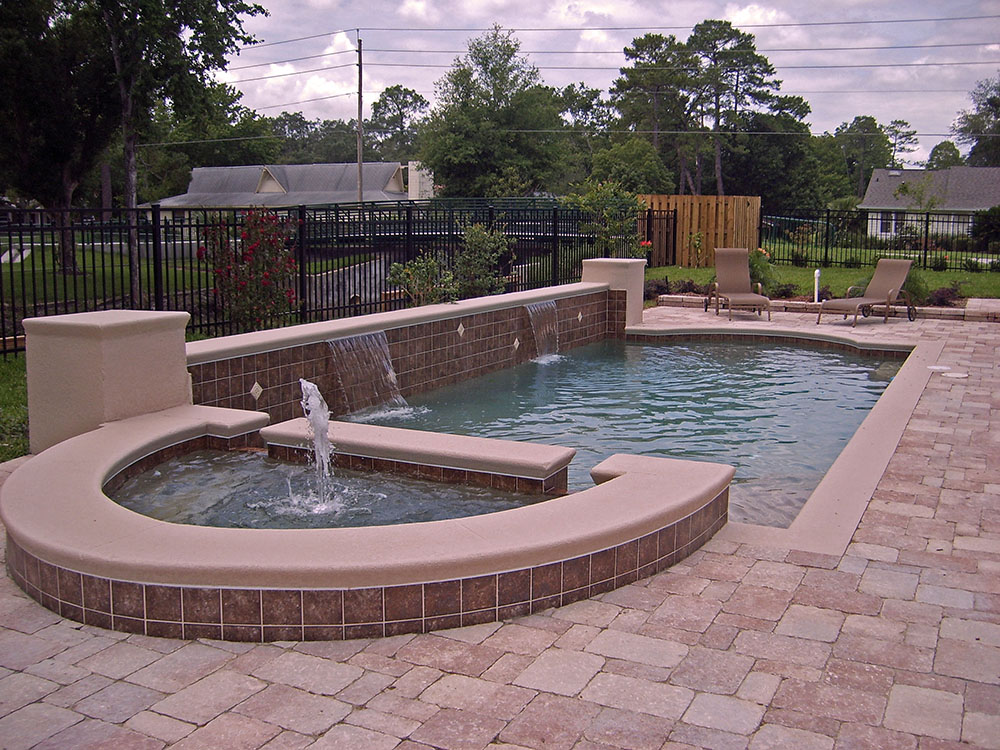 Swimming pools with water feature design ideas for Water pool design