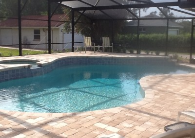 patio paver pool deck