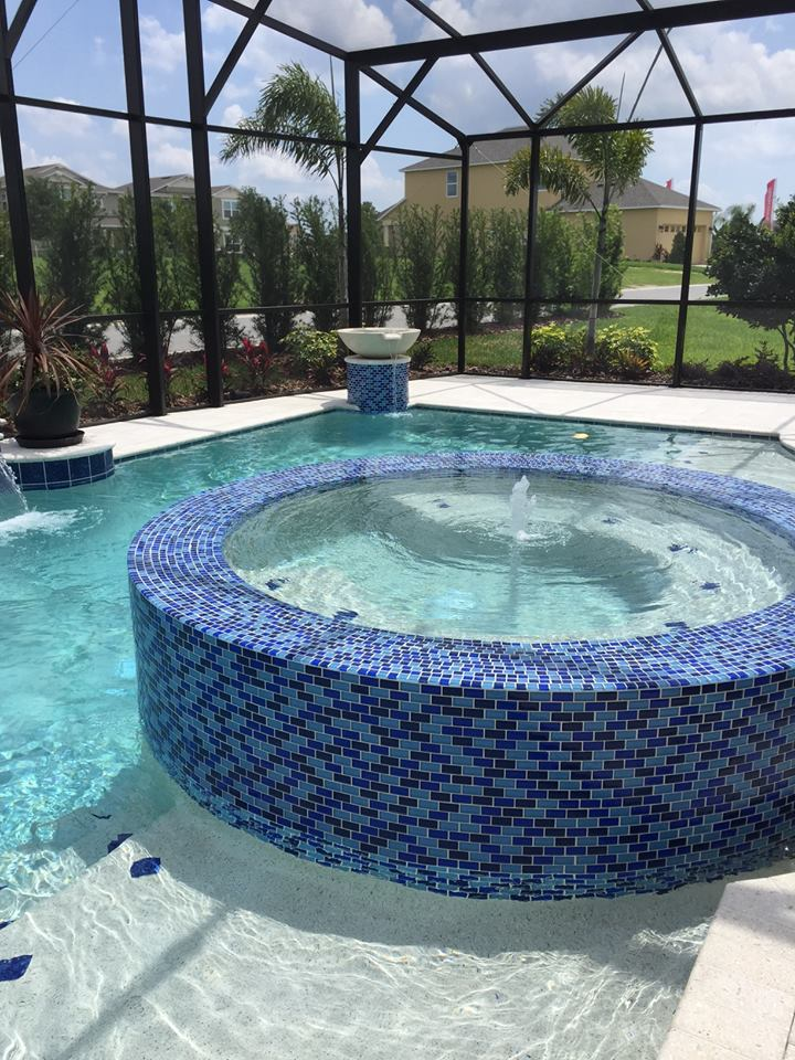 Spa In Swimming Pool: Swimming Pools Interior Finishes