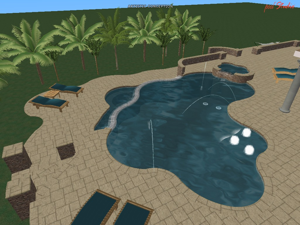 Swimming Pool Design Ideas in 3D – Orlando, Vero Beach, FL