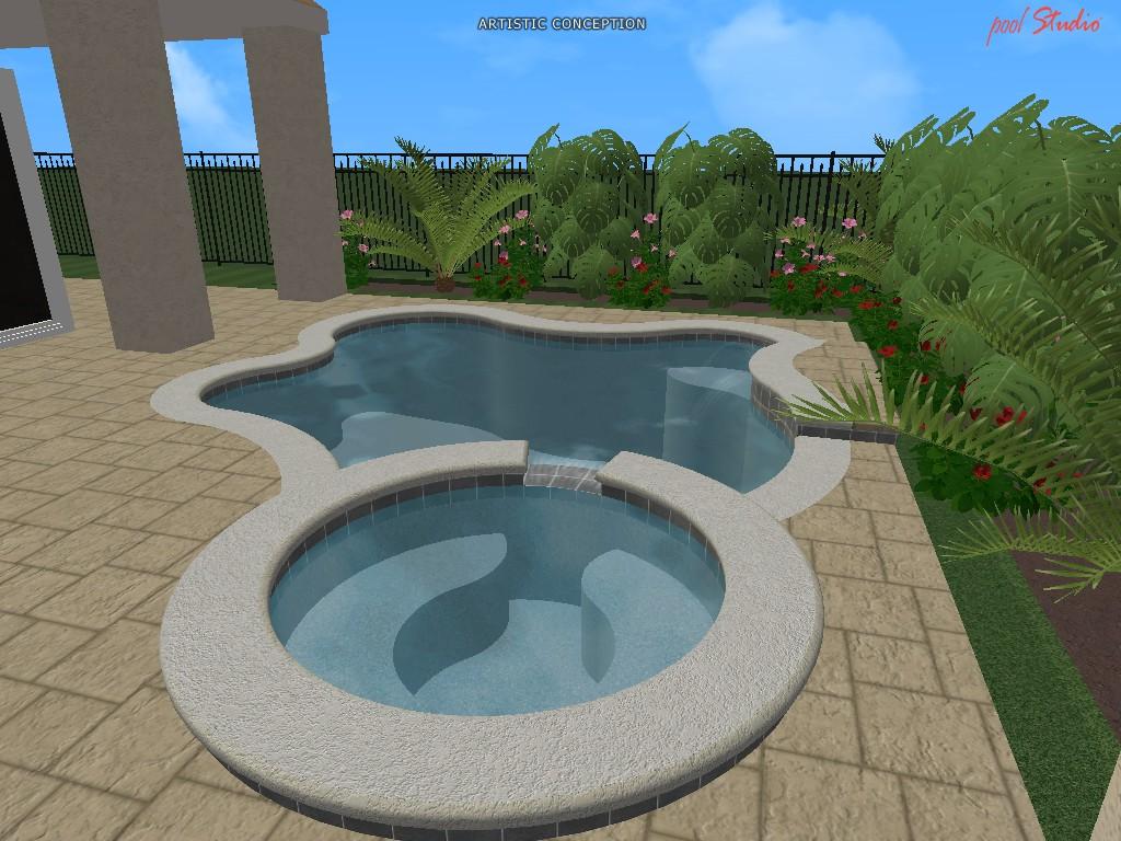 Swimming pool design ideas in 3d orlando vero beach fl for Pool design 3d