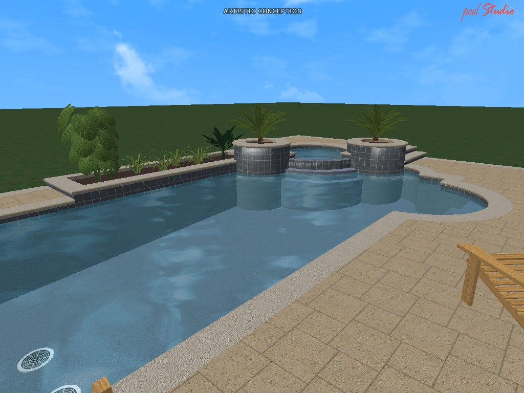 Swimming pool design ideas in 3d for Swimming pool design xls