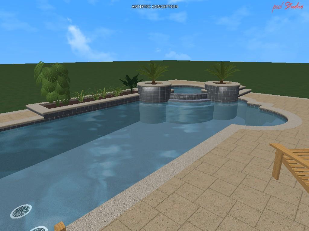 Swimming pool design ideas in 3d orlando vero beach fl for Swimming pool design 2016
