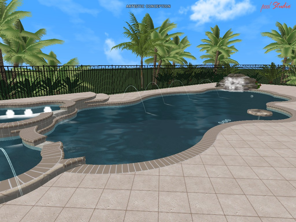 Swimming pool design ideas in 3d for 3d swimming pool design