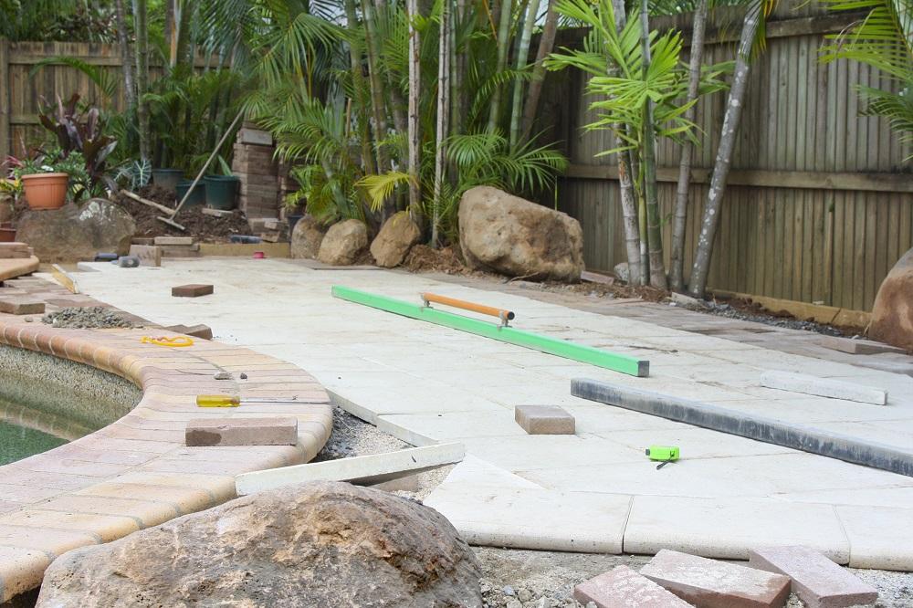 stone pool paver