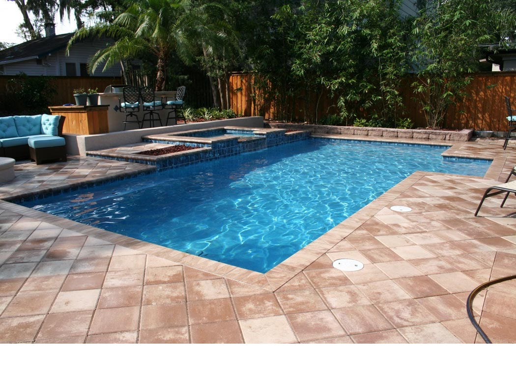 swimming pools with spas
