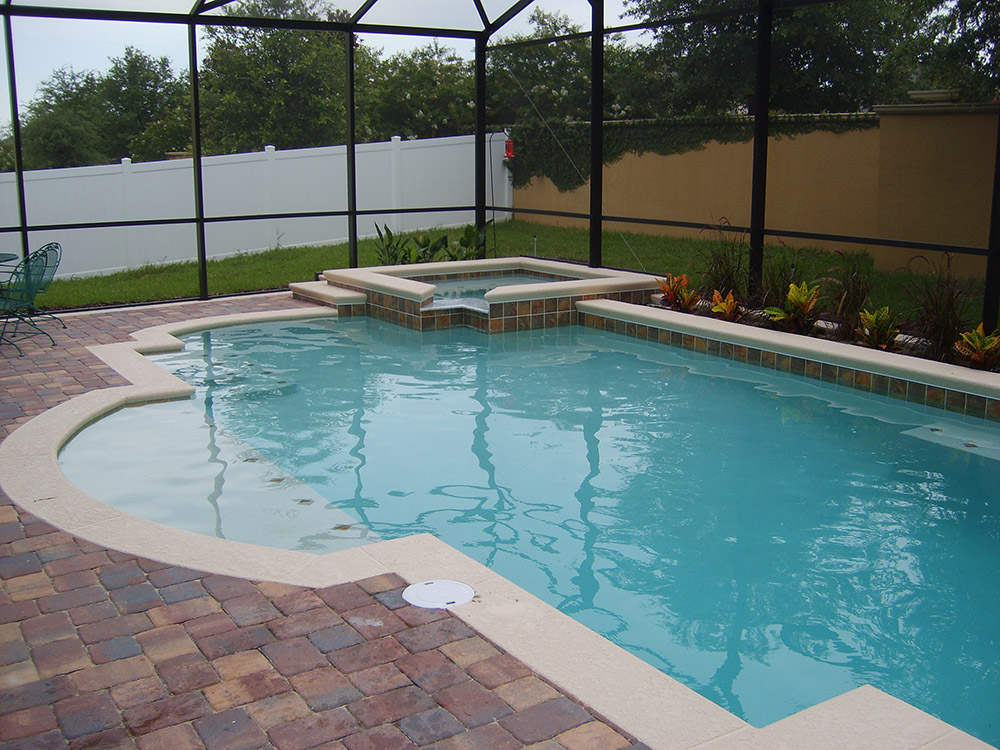Swimming pools with spas orlando fl custom pool and for Spa builders