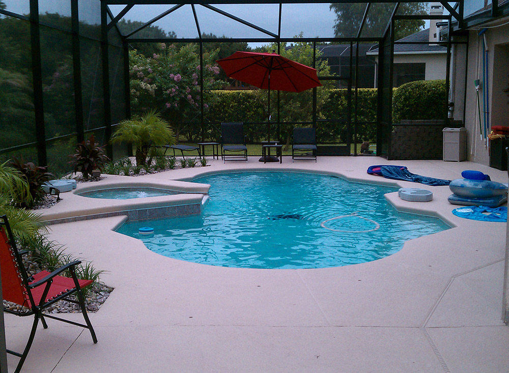 Swimming pools with spas orlando fl custom pool and for Pool and spa contractors
