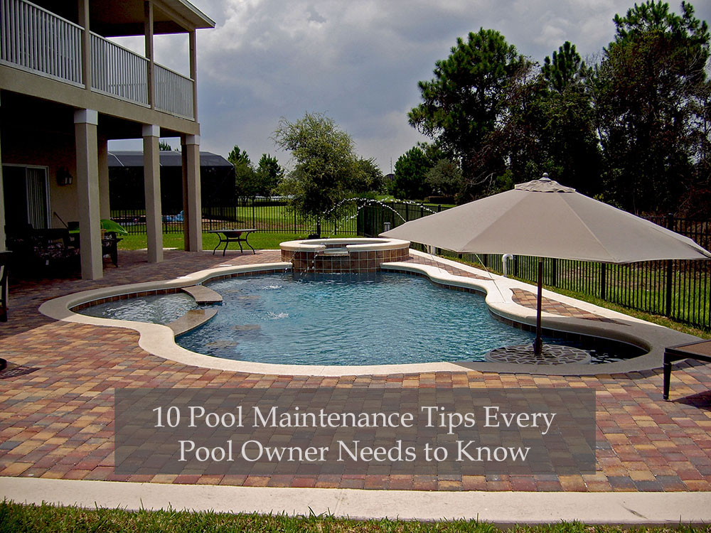 10 pool care tips from swimming pool experts 10 off for Pool maintenance