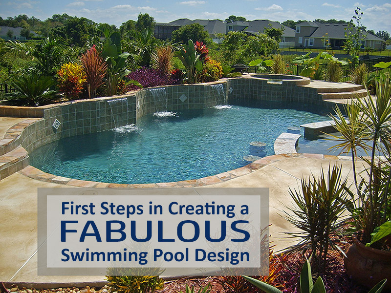 first steps in creating a swimming pool design size shape. Black Bedroom Furniture Sets. Home Design Ideas