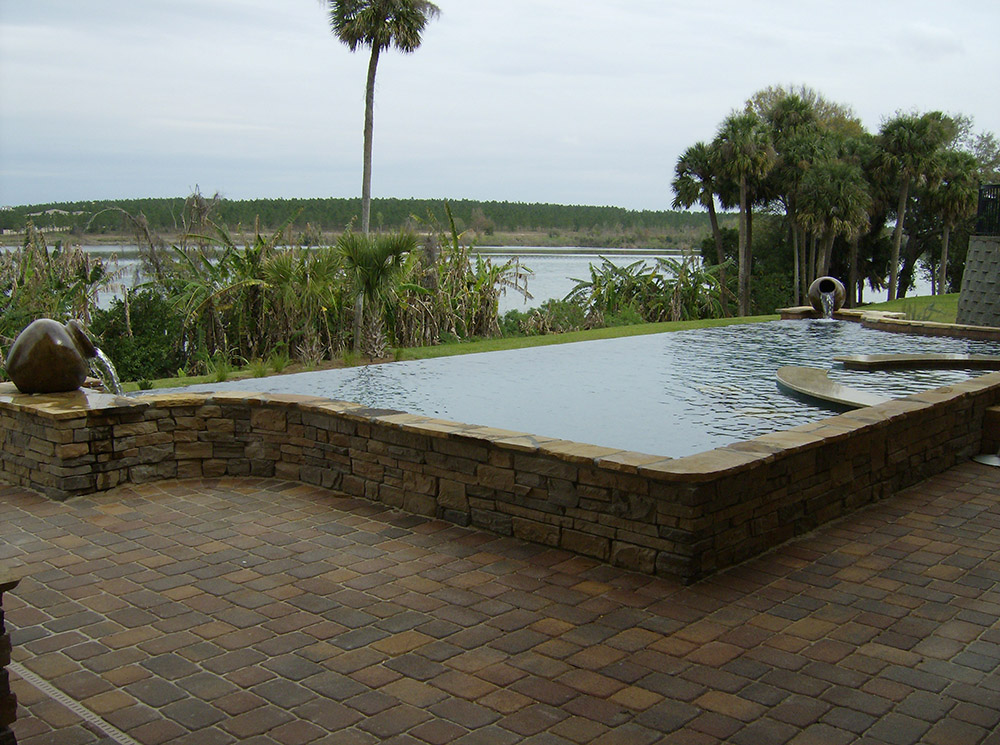Infinity swimming pool design ideas for Infinity swimming pool designs