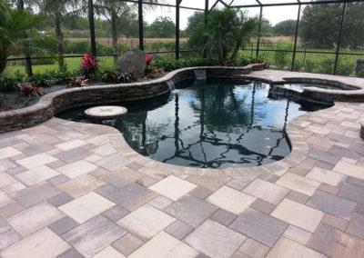 pool with custom pavers7