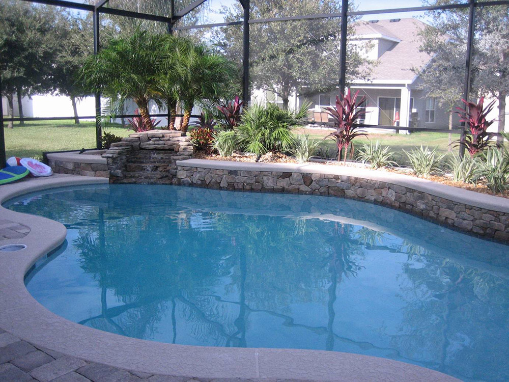 Swimming Pools With Rock Formation Design Pool Fountain Ideas