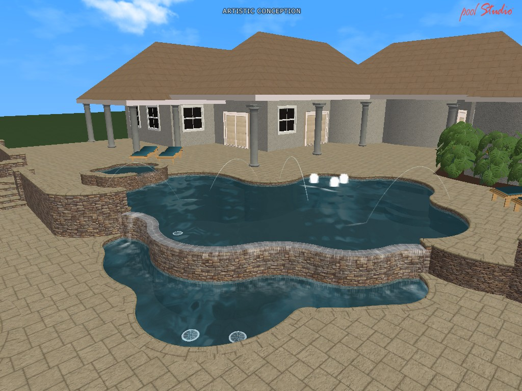 Swimming pool design ideas in 3d orlando vero beach fl for Pool design program